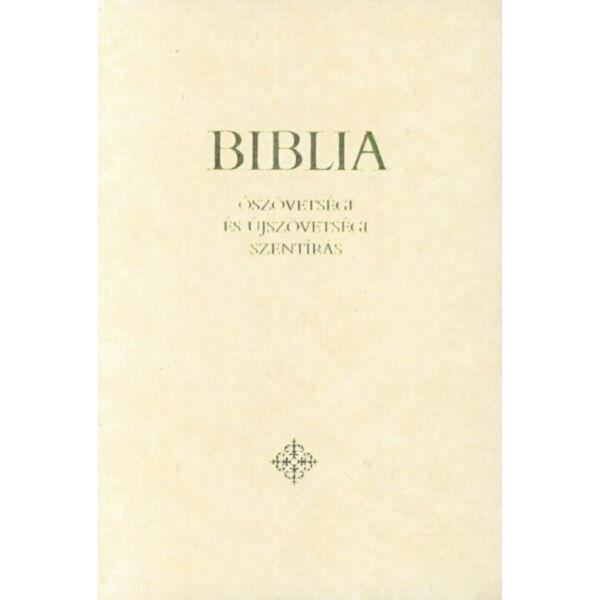 Biblia - Ószövetségi és Újszövetségi Szentírás - Családi Biblia - krémszínű