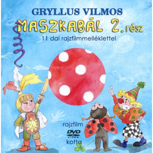 MASZKABÁL 2. RÉSZ (KÖNYV + DVD) - 11 dal rajzfilmmelléklettel
